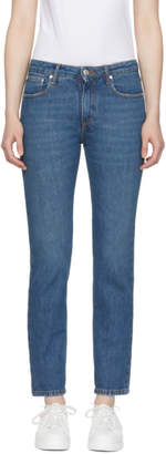 MSGM Blue Stamped Jeans
