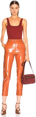 Zeynep Arcay Mom Patent Leather Pants in Brick   FWRD
