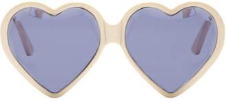 Gucci Off-White Heart Sunglasses