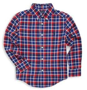 Ralph Lauren Toddler's& Little Boy's Checkered Cotton Button-Down Shirt