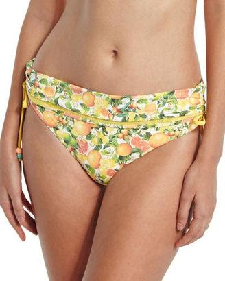 Stella McCartney Iconic Printed Fold-Over Swim Bottom $140 thestylecure.com