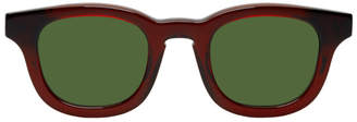 Thierry Lasry Burgundy and Green Monopoly 101 Sunglasses