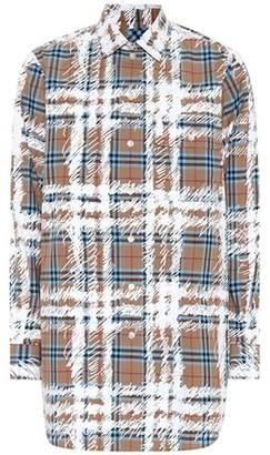 Burberry Scribble Check cotton shirt