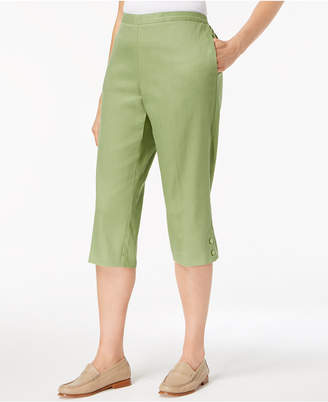 Alfred Dunner Parrot Cay Pull-On Capri Pants