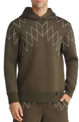 BLACKBARRETT by NEIL BARRETT Football Net Hooded Sweatshirt
