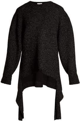 Balenciaga Extended-cuff long-line sweater