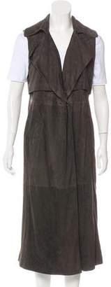 Brunello Cucinelli Leather Longline Vest