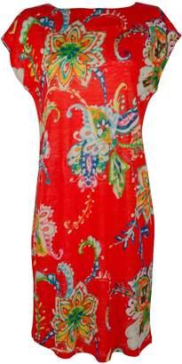Lauren Ralph Lauren Lauren by Ralph Lauren Women's Plus Size Floral Print Midi Shift Dress-OM