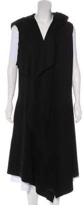 Greg Lauren Hooded Wool & Linen-Blend Vest