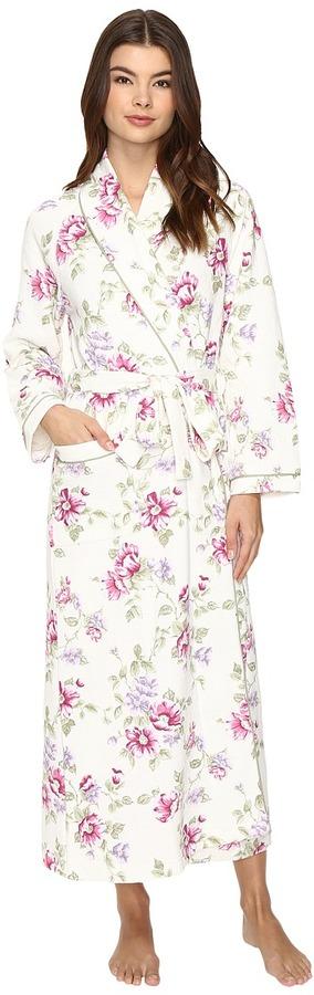 Carole HochmanCarole Hochman Diamond Quilted Long Robe