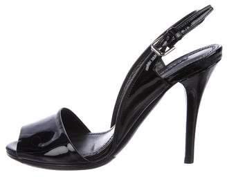 Ralph Lauren Purple Label Patent Leather Slingback Sandals