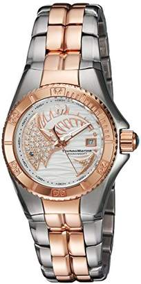 Technomarine Women's Quartz Watch with White Dial Analogue Display and Rose Gold Stainless Steel Bracelet TM-115205