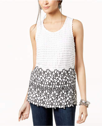 INC International Concepts I.n.c. Embellished Lace Shell, Created for Macy's