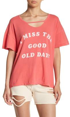 Wildfox Couture Old Days Graphic Print Tee
