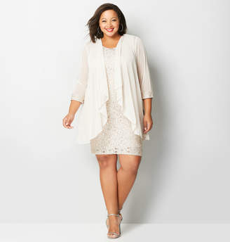 Avenue Chiffon Lace Jacket Dress