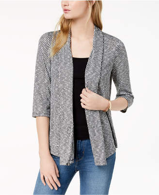 Bar III Draped Open-Front Cardigan, Created for Macy's