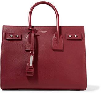 Saint Laurent Sac De Jour Small Textured-leather Tote - Burgundy