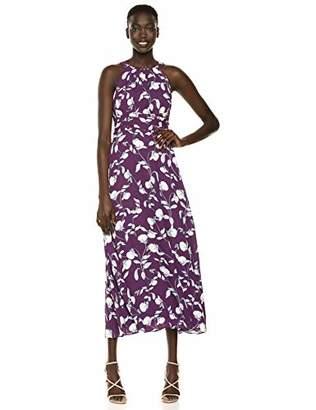 Adrianna Papell Women's Botanical Halter Maxi Dress