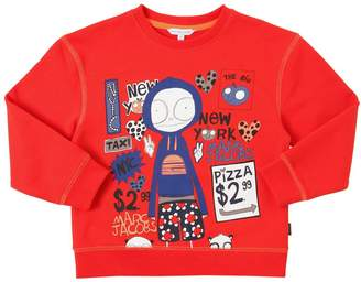 Little Marc Jacobs Printed Cotton Sweatshirt