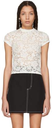 Eckhaus Latta White Lace T-Shirt