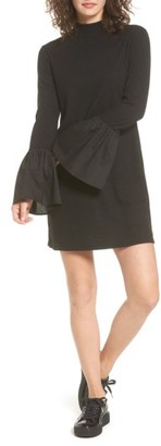 Women's Everly Bell Sleeve Rib Knit Dress $45 thestylecure.com