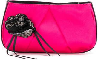 Pinko sequin floral clutch