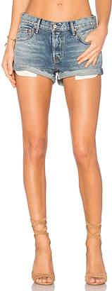 GRLFRND Adriana Mid-Rise Slouchy Shorts.