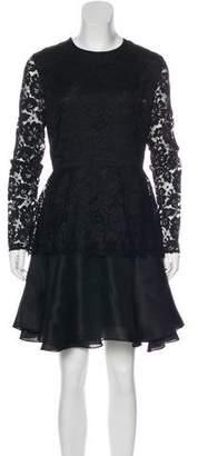 Cushnie et Ochs A-Line Lace Dress