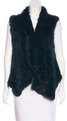 Fur Shawl Collared Vest