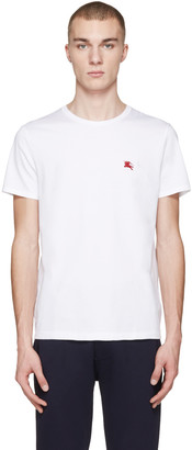 Burberry White Tunworth T-Shirt $105 thestylecure.com