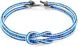 ANCHOR & CREW - Blue Dash Foyle Silver & Rope Bracelet