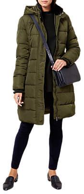 Hobbs Lilianna Puffer Jacket, Khaki