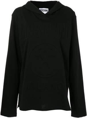 Moschino embossed logo hoodie
