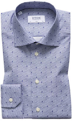 Eton Men's Slim Fit Neat Print Dress Shirt