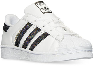 adidas Little Girls' Superstar Casual Sneakers from Finish Line $54.99 thestylecure.com