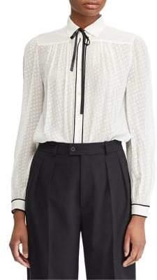 Polo Ralph Lauren Neck-Tie Silk Button-Down Shirt