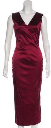 Dolce & Gabbana Silk-Blend Midi Dress