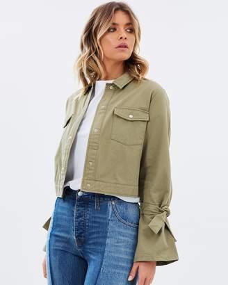 Becca Twill Utility Cropped Jacket