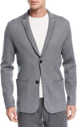 Ermenegildo Zegna Textured-Knit Jersey Jacket