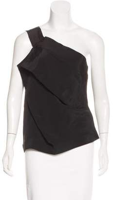 Roland Mouret One-Shoulder Silk Top