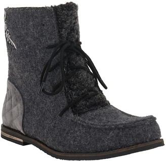 The Sak Sakroots Felt Lace-up Booties - Jayla