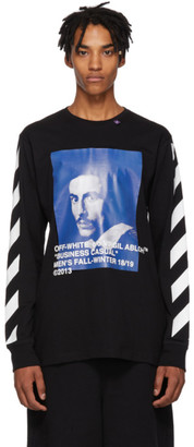 Off-White Off White Black Diagonal Bernini Long Sleeve T-Shirt