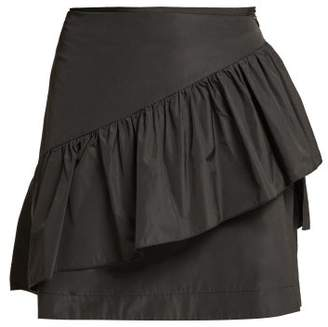 See by Chloe Ruffled Taffeta Mini Skirt - Womens - Black