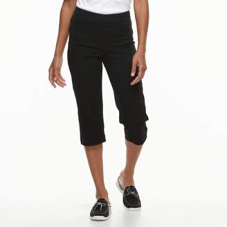 Croft & Barrow Petite Classic Stretch Twill Capris