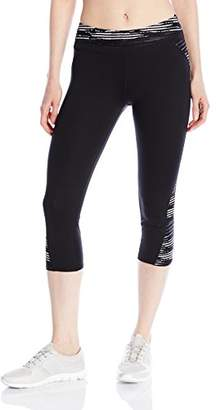 Andrew Marc Performance Women's Spliced Printed Crop Legging