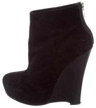 Alejandro Ingelmo Suede Wedge Boots
