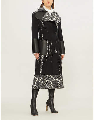Alexander McQueen Paisley-panel double-breasted wool-twill coat