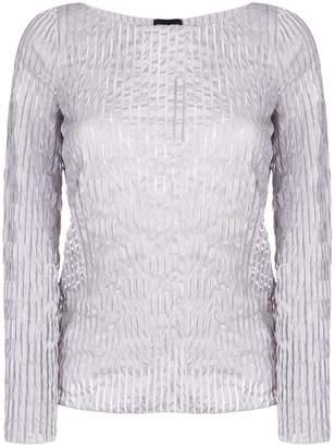 Giorgio Armani ruched style blouse