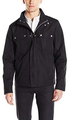 Cole Haan Men's Stand Collar City Rain Jacket