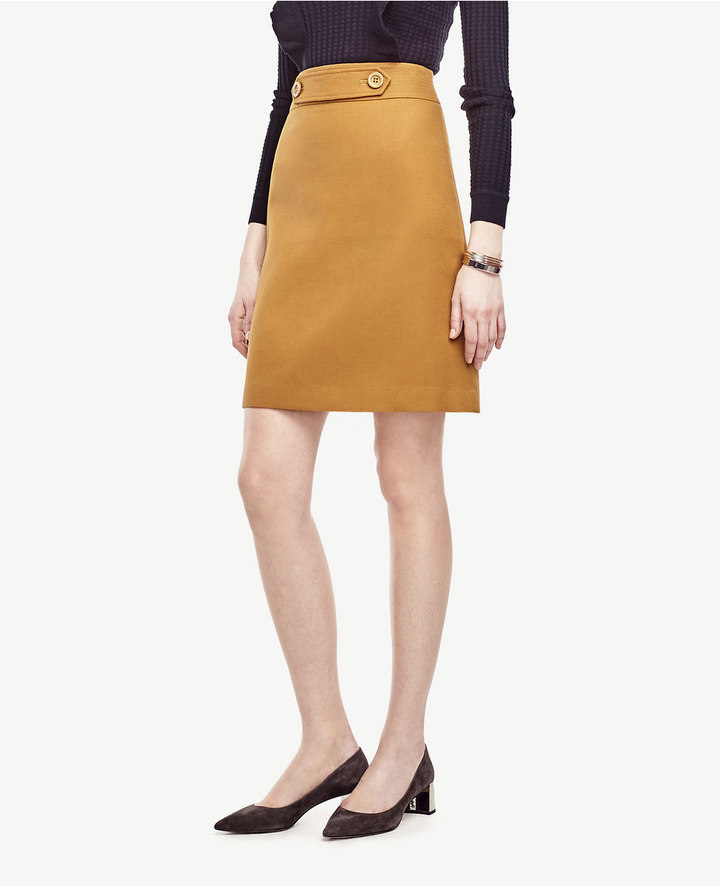 Ann TaylorButton Tab Skirt